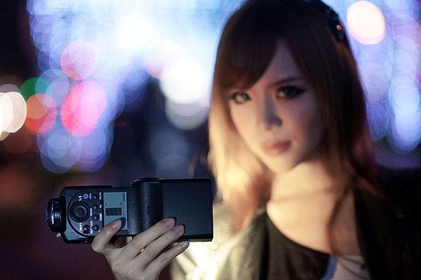 SONY HLV-F60M閃燈運用(3)-節慶夜拍人像